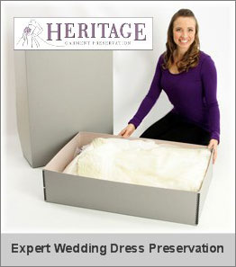 Preserve your wedding dress forever with Heritage Box wedding dress preservation