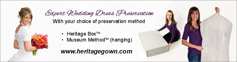 You have choices in your wedding dress preservation