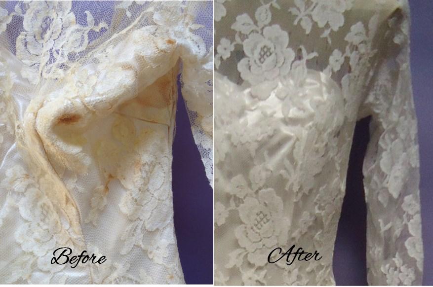 Lace vintage wedding gown restoration heritage garment for Vintage wedding dress restoration