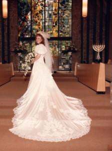Crabbe wedding gown restoration