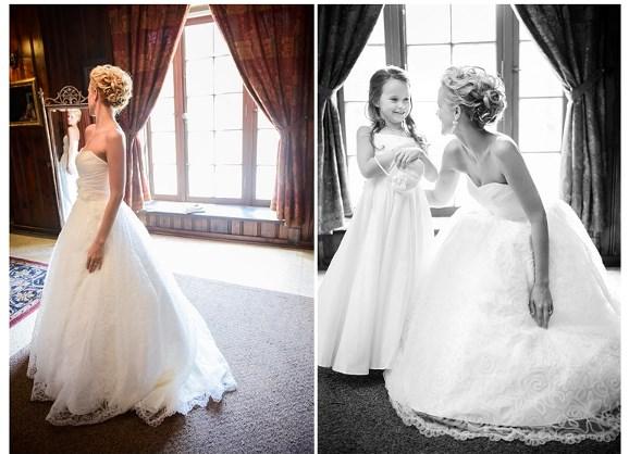Katie Dericksons beautiful wedding gown