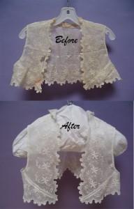 Vintage garment lace vest