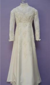 Restored Vintage Wedding Gown